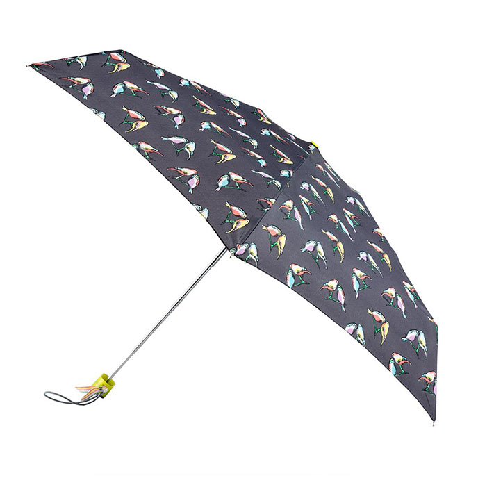 totes Miniflat Finches Print Umbrella  (5 Section)