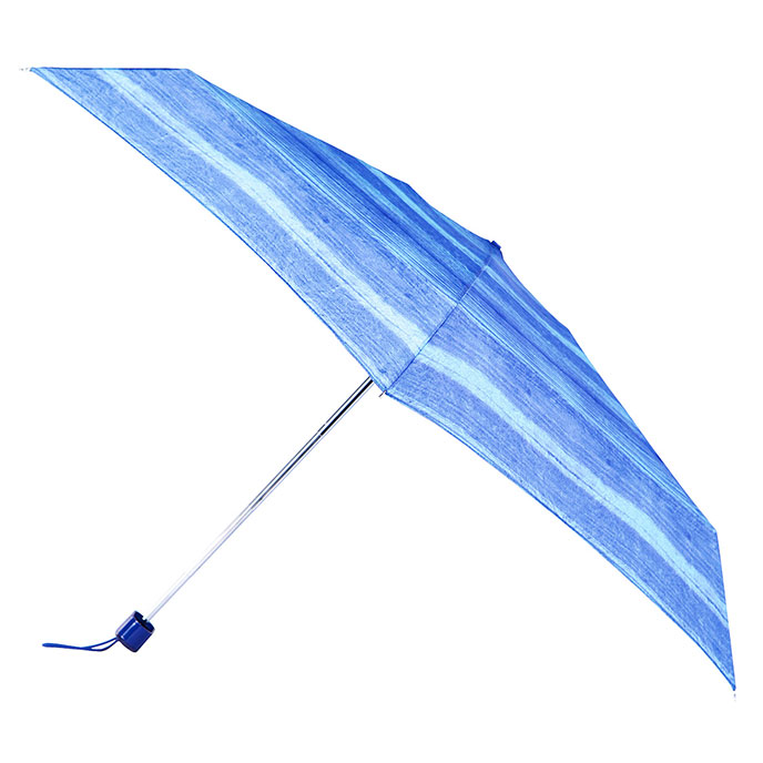 totes Ink Stripe Miniflat Thin Umbrella   (5 Section)