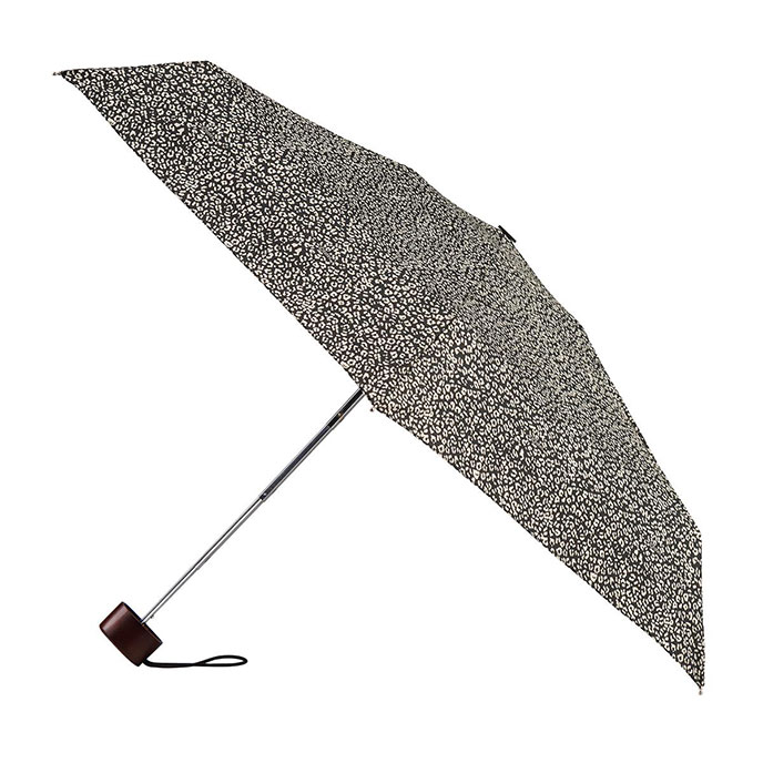 totes Miniflat Dotty Small Leopard Print Umbrella (5 Section)