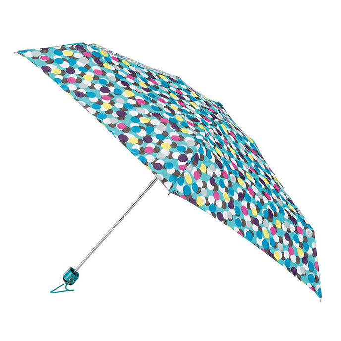 totes Miniflat  Multi Dots Print Umbrella (5 Section)