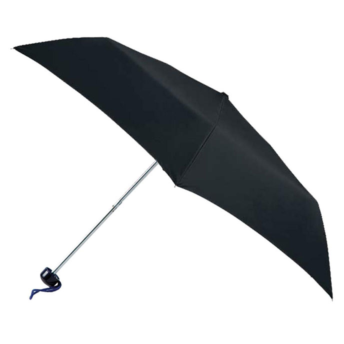 totes Plain Black Mini Umbrella (3 Section)