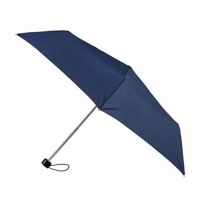 totes Steel Plain Navy Umbrella (3 Section)