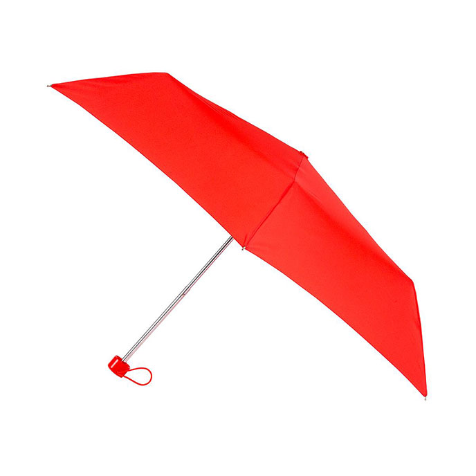 totes Steel Plain Scarlet Umbrella  (3 Section)