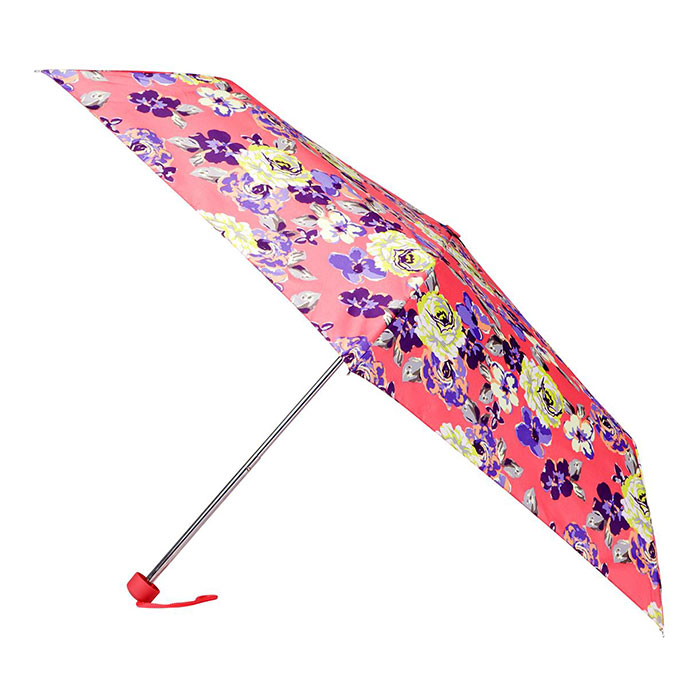 totes Pink Cabbage Rose Mini Umbrella (3 Section)