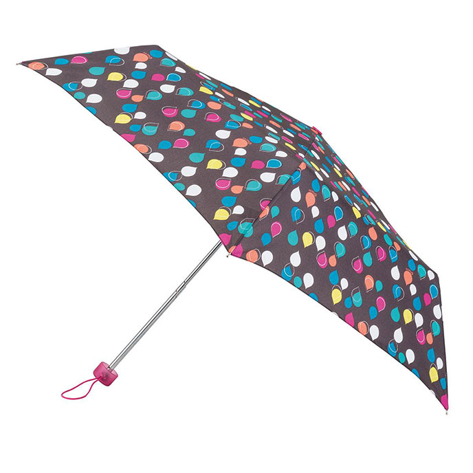 totes Supermini Raindrop Print Umbrella  (3 Section)