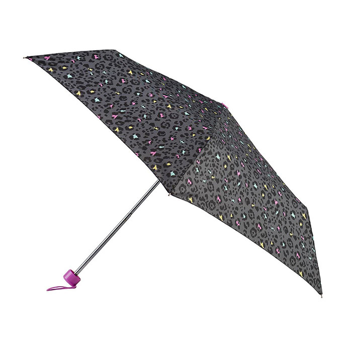 totes Supermini Multi Panther  Print Umbrella (3 Section)