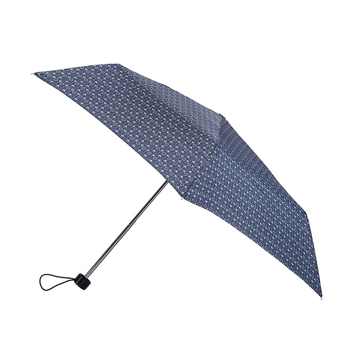 totes Steel Navy Daisy Stems Print Umbrella (3 Section)