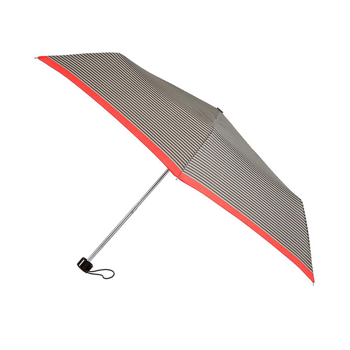 totes Supermini Taupe Stripe Umbrella (3 Section)