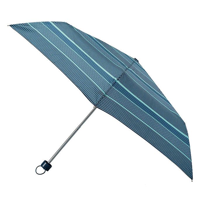 totes Steel Tiled Stripe Print Umbrella  (3 Section)