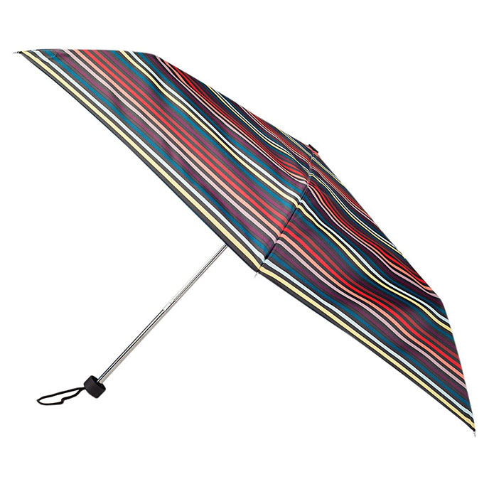 totes Red & Orange Multi Stripe Print Mini Umbrella  (3 Section)