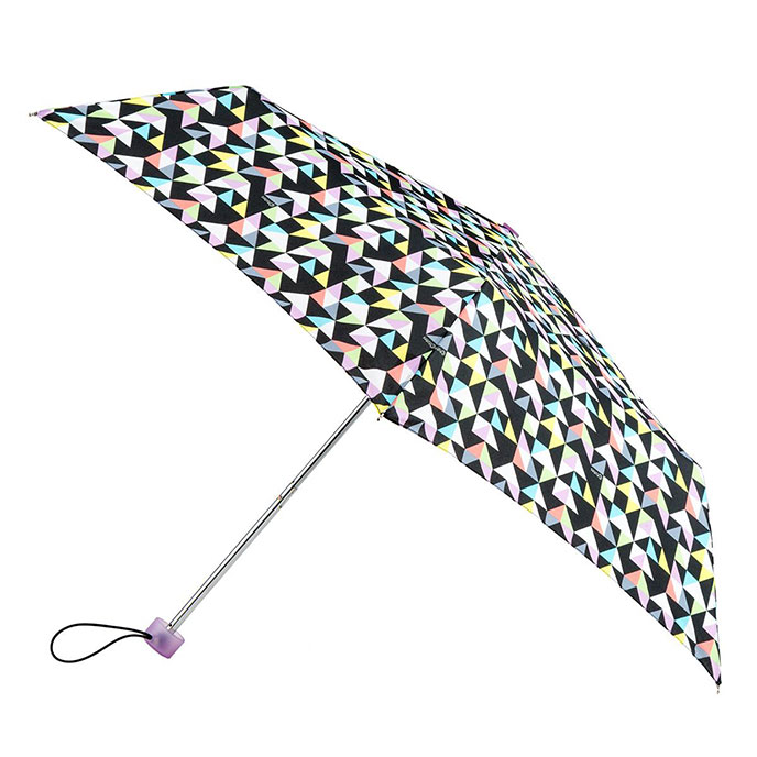 totes Supermini Geometric Print Umbrella  (3 Section)