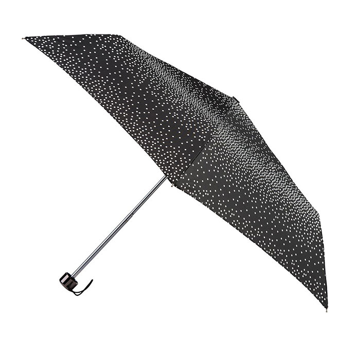 totes Supermini B&W Graduated dot Print Umbrella (3 Section)