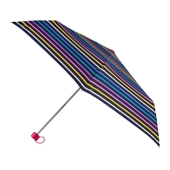 totes Supermini Multi Visual Stipe Print Umbrella (3 Section)
