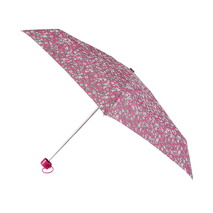 totes Supermini Raspberry Ditsy Floral Print Umbrella (3 Section)