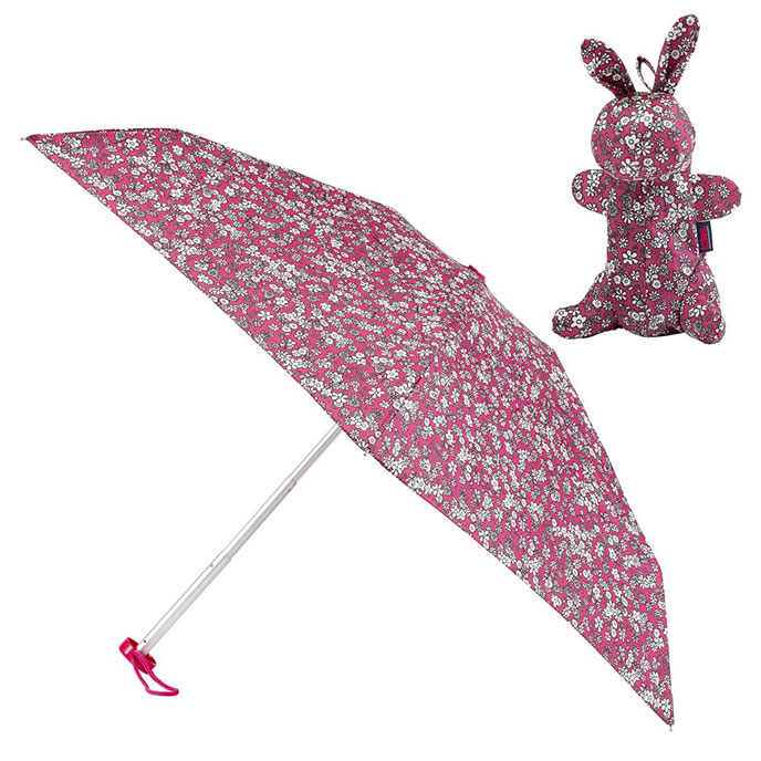 totes Mini Round Umbrella in Bunny Case   (5 Section)