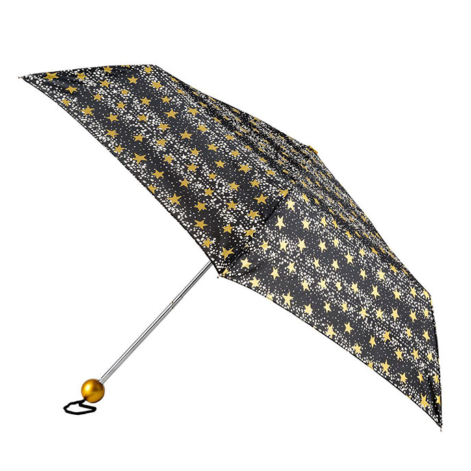 totes Supermini Dots and Stars Print Umbrella  (3 section)