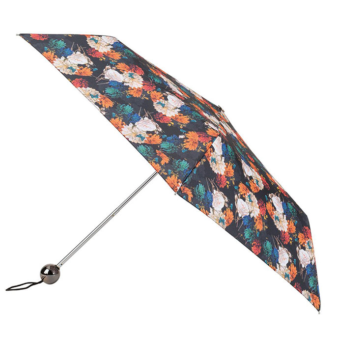 totes Supermini Photographic Floral Print Umbrella (3 Section)