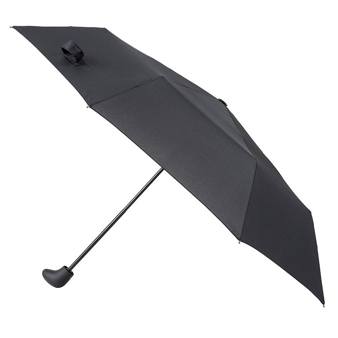totes Sport Supermini with Gearstick Handled Umbrella Black (3 Section)