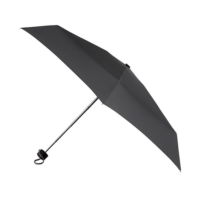 totes Mini 5 Section Thin Umbrella Black (5 Section)