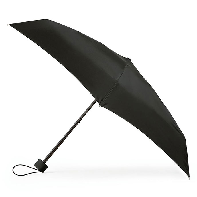 totes Miniflat 5 Section Thin Umbrella Black (5 Section)
