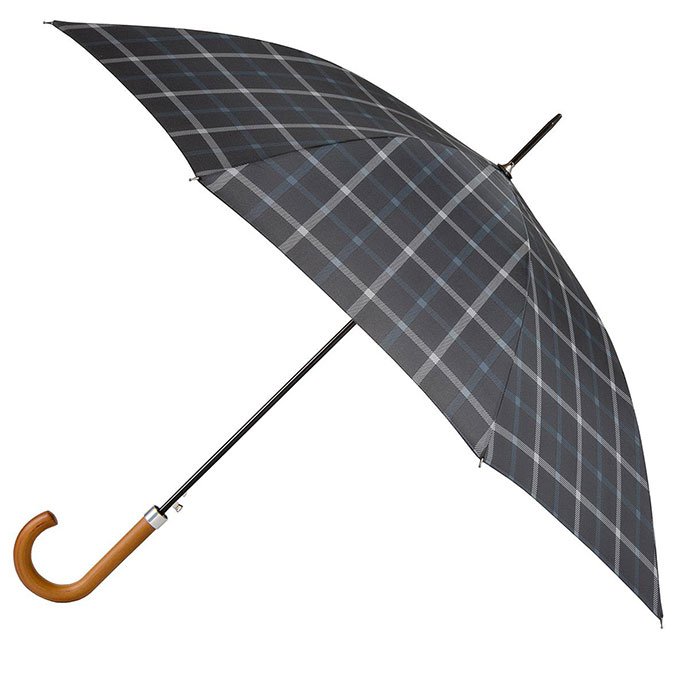 totes Mens Manual Check Walker Umbrella