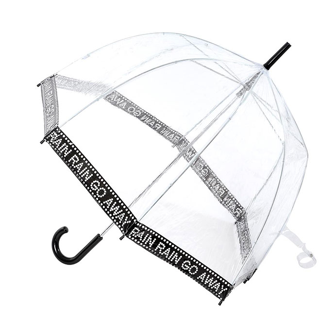 totes Ladies PVC Dome Rain Rain Go Away Umbrella