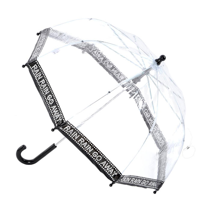 Childrens PVC Dome Rain Rain Go Away Umbrella