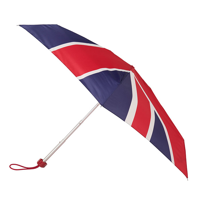 totes Miniflat 5 Section Union Jack Umbrella (5 Section)