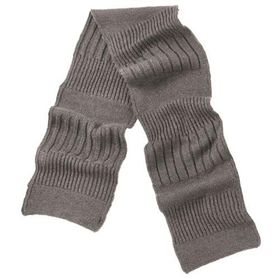 isotoner Mens Knit Scarf Acrylic and Wool Blend Grey