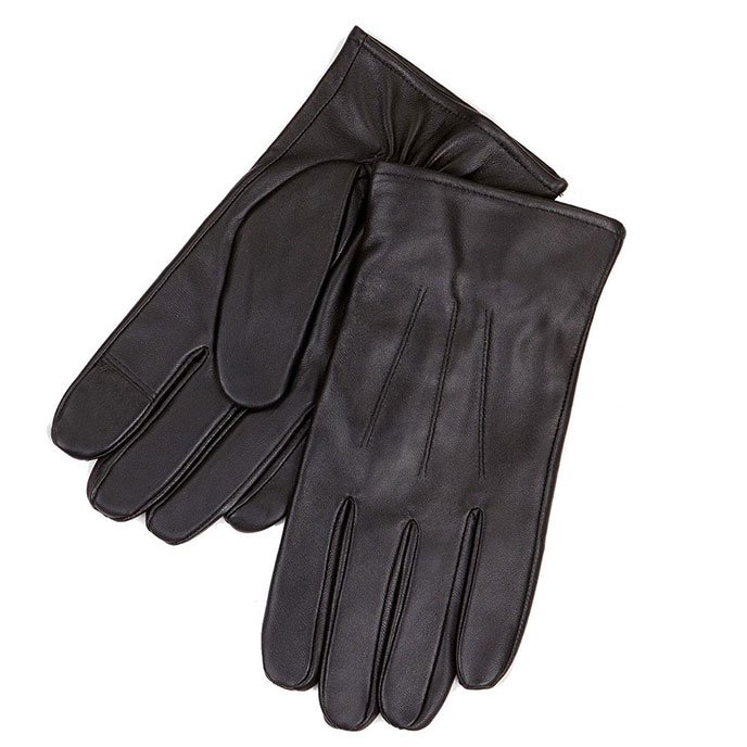 isotoner Luxury Leather 3 Point Glove Black