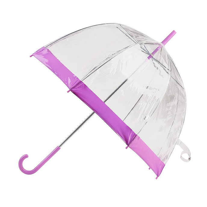 totes Lilac PVC Dome Umbrella