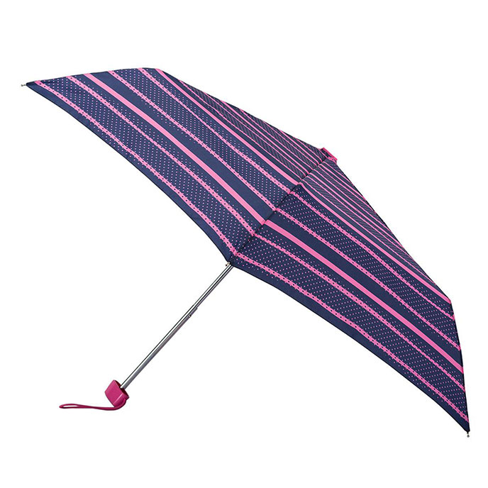 totes Steel Miniflat Pop art Stripe (Dotty) Print Umbrella  (3 Section)