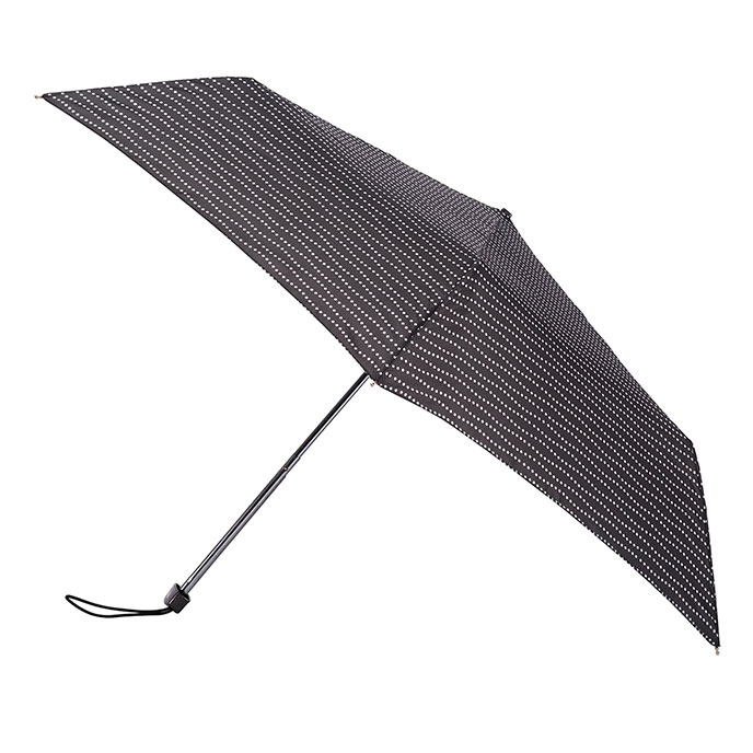 totes Steel Miniflat Black/White Wavy Dots Umbrella (3 Section)