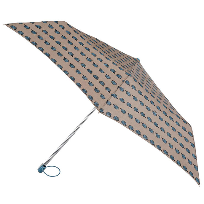 totes Miniflat Hedgehog Print Umbrella (3 Section)