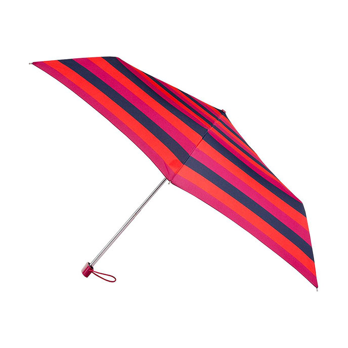 totes Miniflat Block Stripe Print Umbrella (3 Section)
