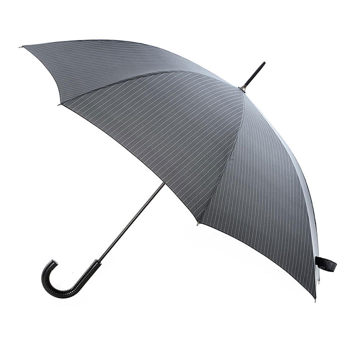 totes Manual Plastic Walker Umbrella  Pinstripe