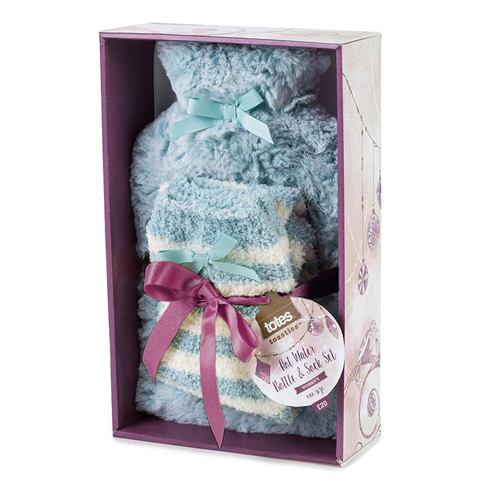 totes Ladies Hot Water Bottle & Cosy Sock Set
