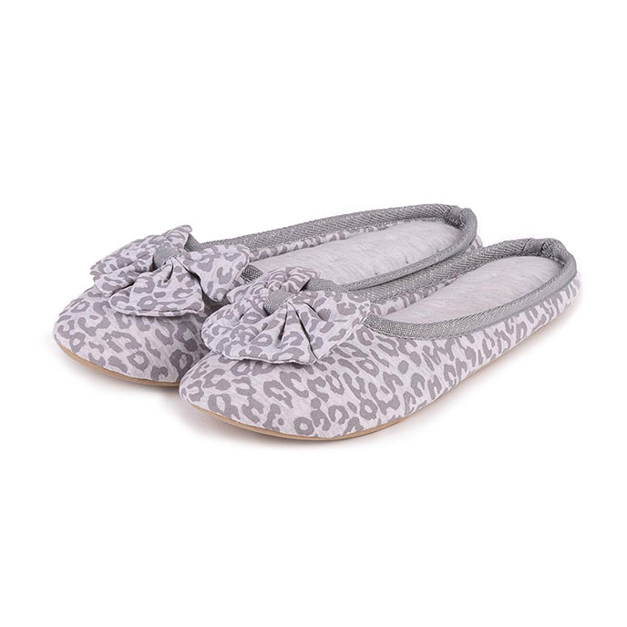 Isotoner Ladies Jersey Mule Slippers Grey