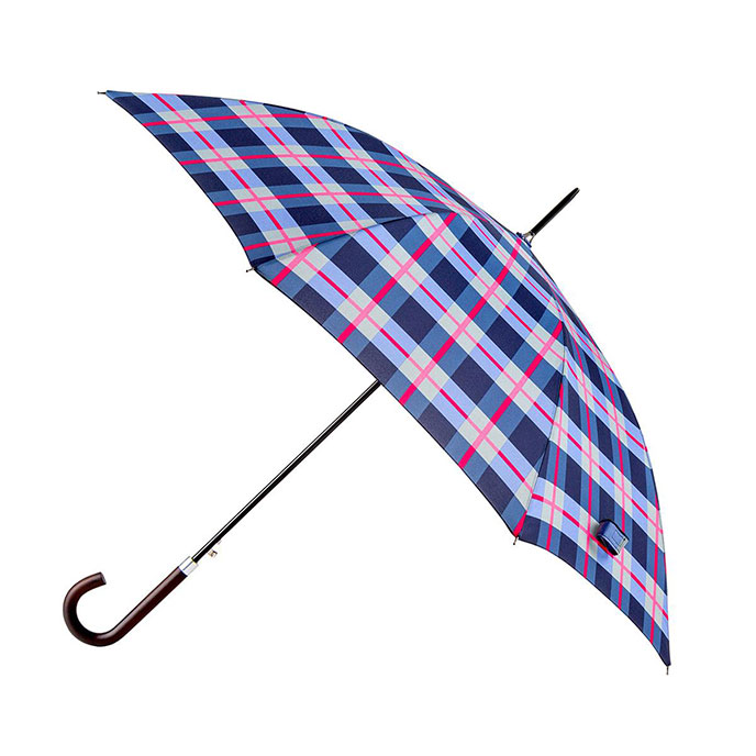 totes Check Print Elegant Walker Umbrella