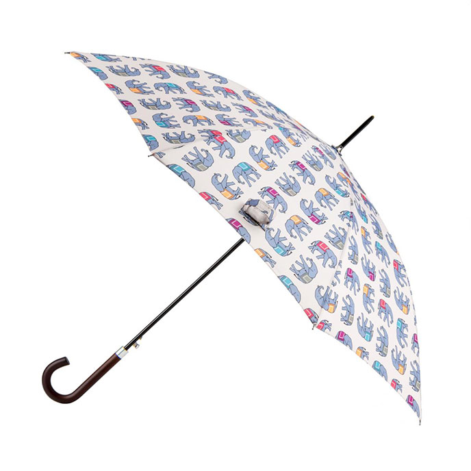 totes Elephant Print Elegant Walker Umbrella