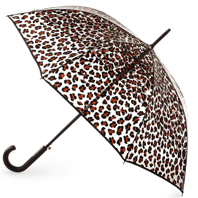 totes PVC Animal Print Clear Canopy Umbrella