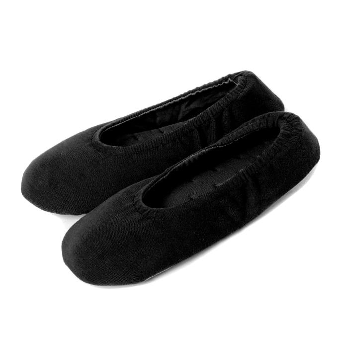 Isotoner Stretch Jersey Ballet Slippers Black