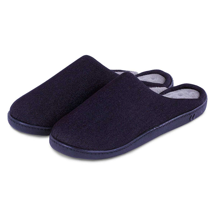 isotoner Textured Pillowstep Mule Slippers Black