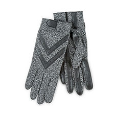 Isotoner Ladies Wonderfit Stretch Gloves Black Heather