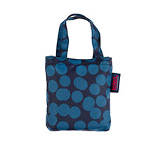 totes Large blue speckle dot Print Shopping Bag