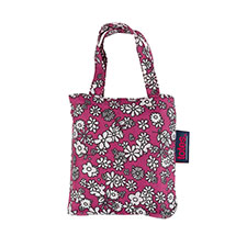 totes Raspberry Ditsy Floral Print Shopping Bag