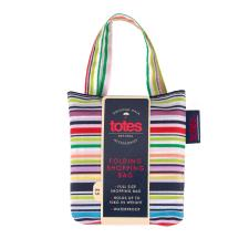 totes Bag in Bag Shopper Fine Line Stripe  Print Shopping Bag