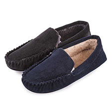 totes Mens Cord Moccasin Slippers