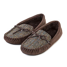 totes Mens Harris Tweed Moccasin
