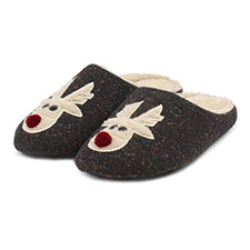 totes Mens Novelty Mule Slippers
